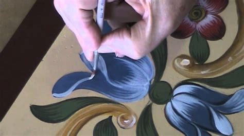 decoration painting tulip bauernmalerei decorative painting video tole