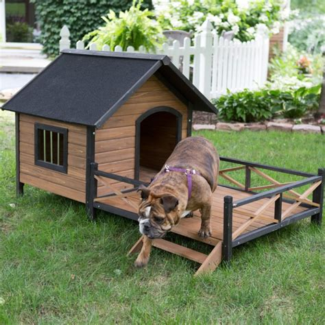large dog house with porch 34 doggone good backyard dog house ideas