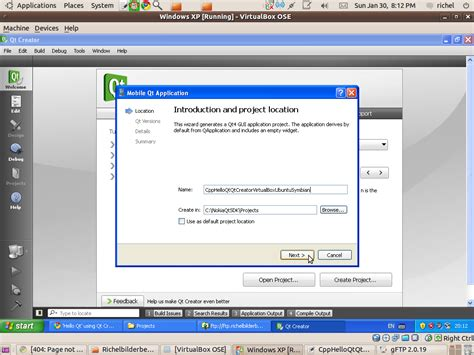 qt programming on windows running windows under virtualbox under ubuntu