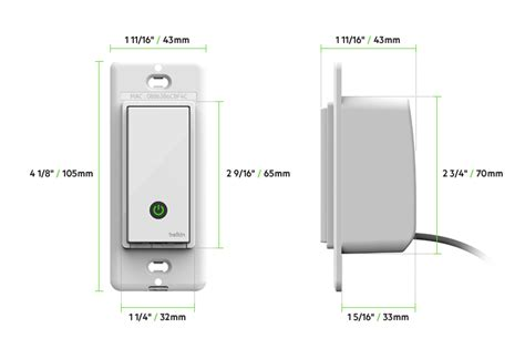 belkin wemo light switch wemo 174 wi fi smart light switch