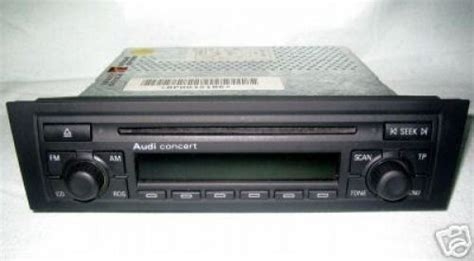 Audi A3 8p Concert 2 by Audi Radio Cd Concert 2 A3 8p Modell Service24