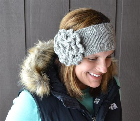knitting pattern for headbands another flower headband by susan b anderson craftsy