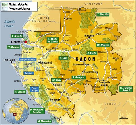 where is gabon on the world map maps of gabon map library maps of the world