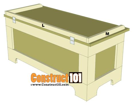 storage bench design storage bench plans construct101
