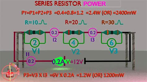 resistor power calculator series resistor power calculation or formula animation how