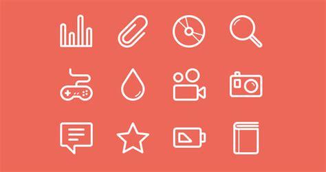 flat stroke  icons set vol media icons pixeden