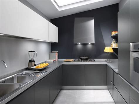 white grey and black modern kitchen design picture by