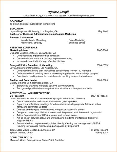 Coursework On Resume Templates No2powerblasts Com Relevant Resume Template