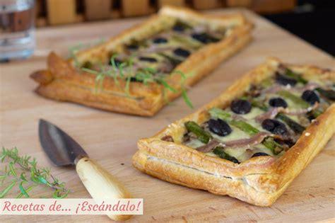 anchoas saladas tarta de hojaldre salada con esp 225 rragos y anchoas