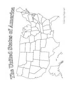 usa map coloring page usa map printable