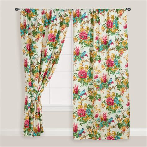 bird drapes parrot bird ornithology curtain world market