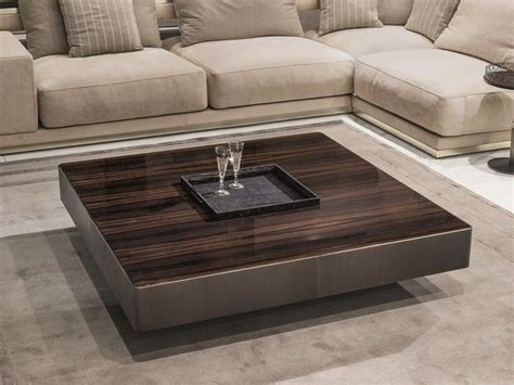 square wooden coffee table  tray  living room lonely fratelli longhi tea table design