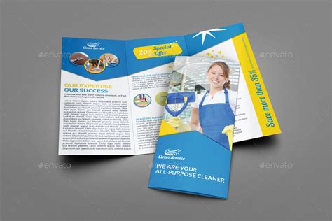 Cleaning Services Tri Fold Brochure Vol 3 By Owpictures Graphicriver Cleaning Brochure Templates