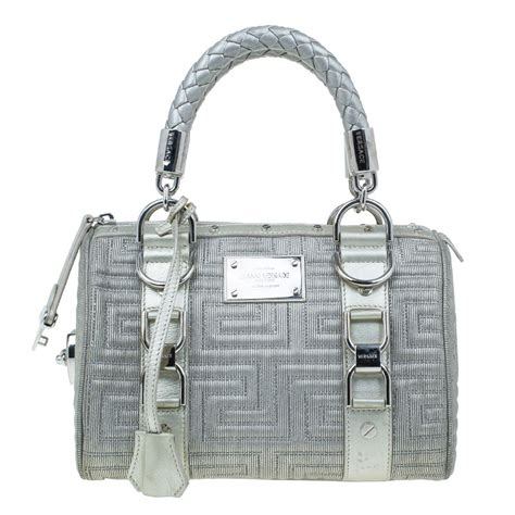 Versace Metallic Jacquard Snap Out Of It Bag by The Collection Inside The Closet