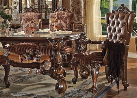 ornate dining table and chairs marlyn traditional style dining table set