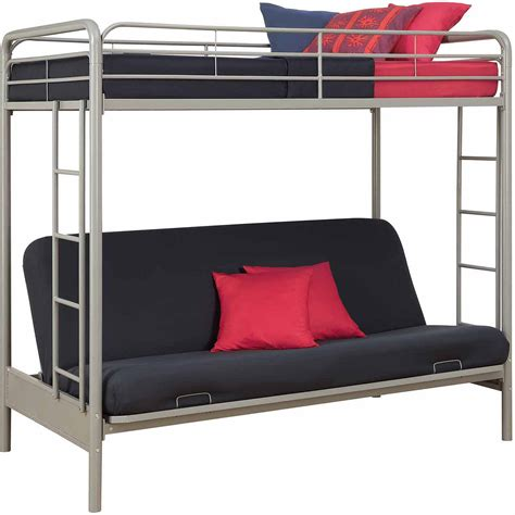 Twin Bed Over Futon Bunk Beds Bm Furnititure Bunk Beds With Mattress Included