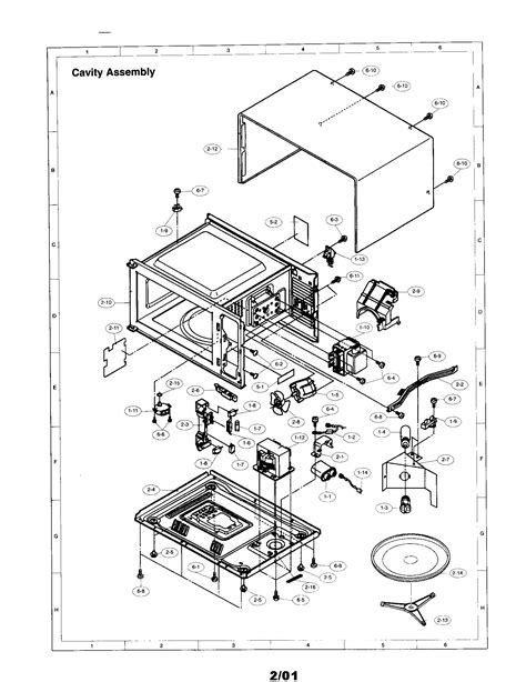 sharp microwave parts diagram sharp microwave oven parts model r4a58 sears partsdirect