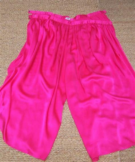 1970 s pink silk charmeuse wrap harem for sale