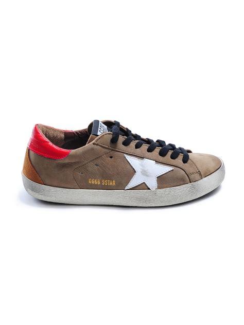 golden goose mens sneakers golden goose deluxe brand sneakers superstar in brown for