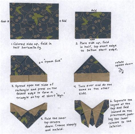 Butterfly Origami Steps - origami fabric butterflies something for almost nothing