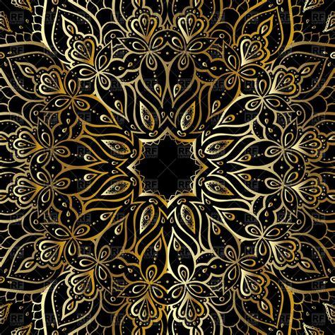 ethnic background golden mandala ethnic background vector image 77963