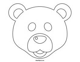 bear mask coloring page printable polar bear mask to color january preschool