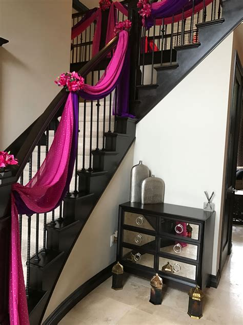 home decor  staircase drapes decor   asian indian