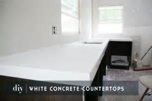 Diy white concrete countertops chris loves julia