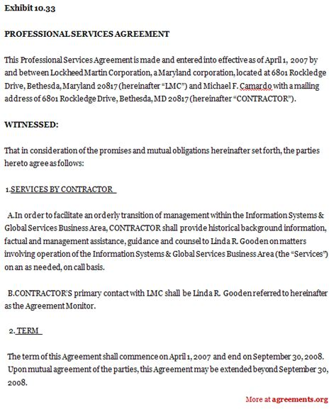 service agreement sle images