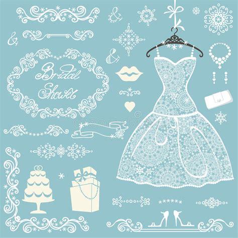 ornament bridal shower invitation bridal shower decoration set winter wedding stock photo image of accessories decoration 65412622