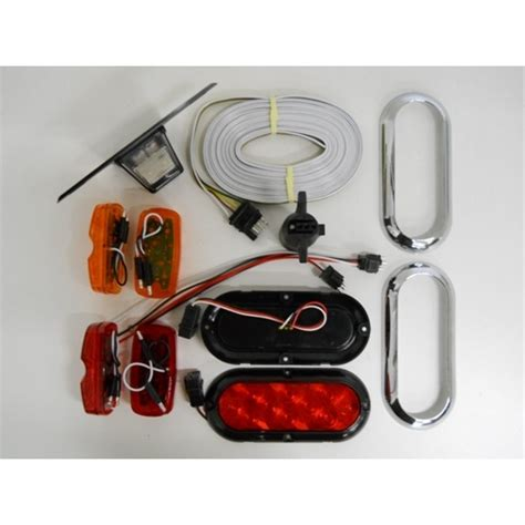 trailer brake light kit led small trailer marker brake stop turn light kit