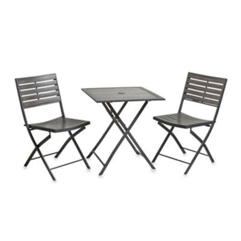 Bed Bath And Beyond Bistro Table Buy Folding Patio Table And Chairs From Bed Bath Beyond