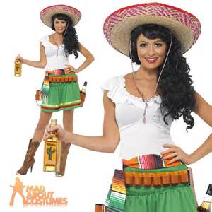 mexican tequila shooter costume cowgirl womens fancy