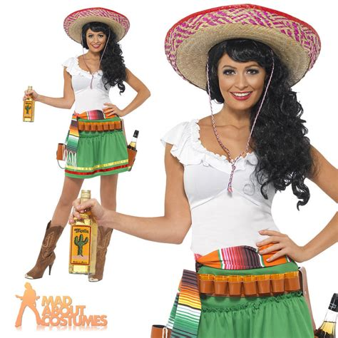 Premium Mixco Dress mexican tequila shooter costume womens fancy