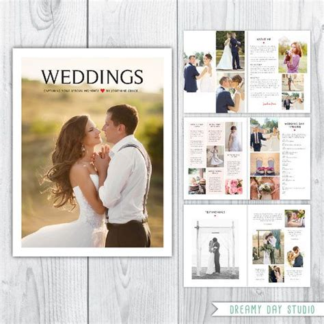 wedding photography brochure template 123 best photographer templates images on