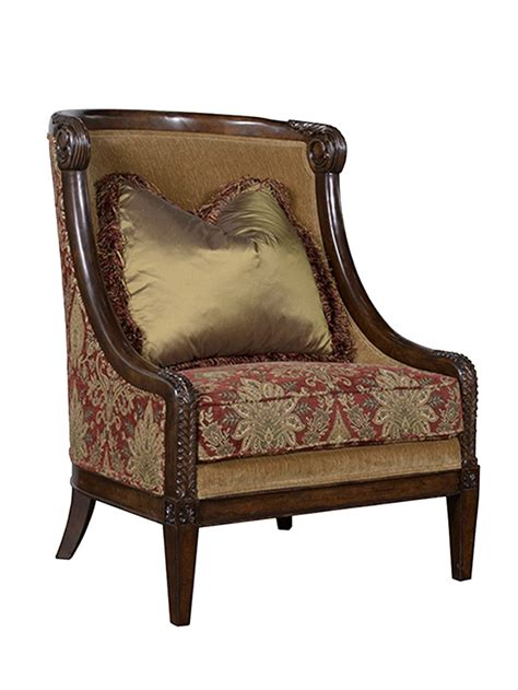carved wood upholstered chair giovanna carved wood accent chair