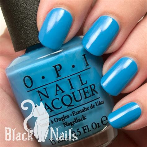 opi no room for the blues opi no room for the blues review swatch black cat nails