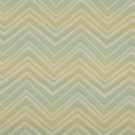 Chevron Upholstery Fabric Lime Green Turquoise Beige Chevron Indoor Outdoor