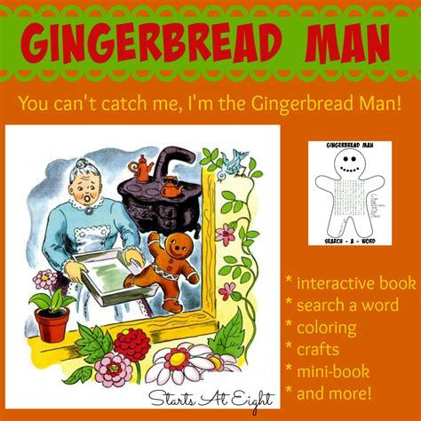 my gingerbread man printable book gingerbread man a book a big idea startsateight