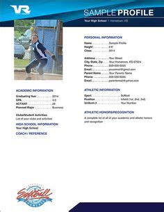 softball scouting report template softball profile sle sle profile page fastpitch