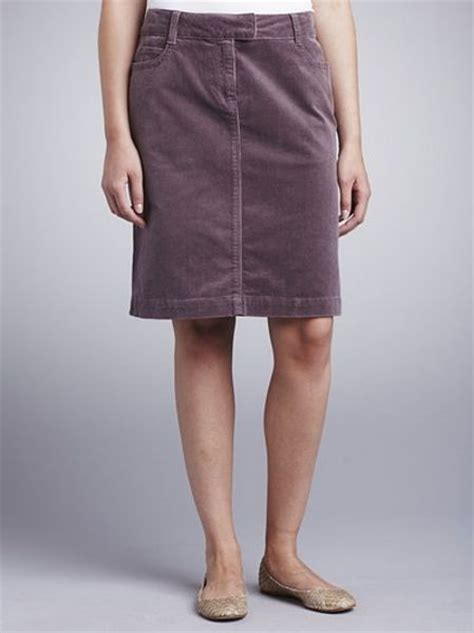 lewis corduroy skirt mink in purple lyst
