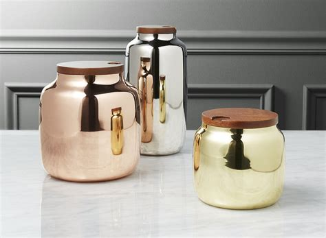 silver kitchen canisters keep your food and decor fresh with these 13 modern jars and canisters contemporist
