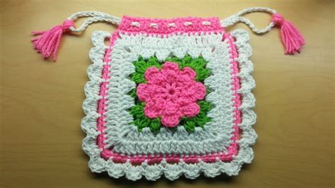 Handmade Purse Tutorial - crochet square handbag purse tutorial