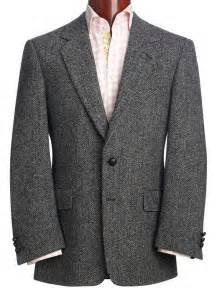 Harris tweed laxdale grey herringbone classic sports jacket