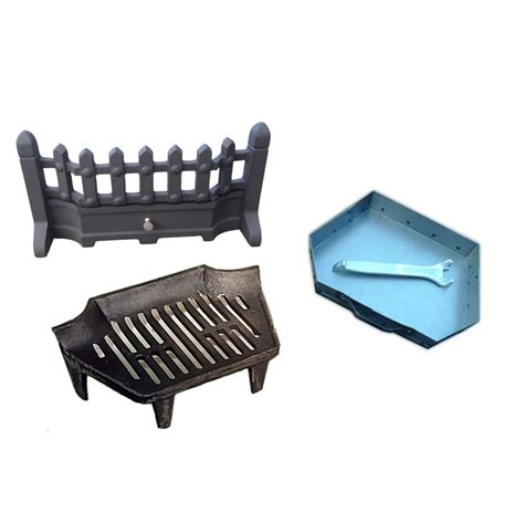 Fireplace Grate Front by Beacon Fret Front Grate And Ashpan Black Set 16 Or 18 Inch
