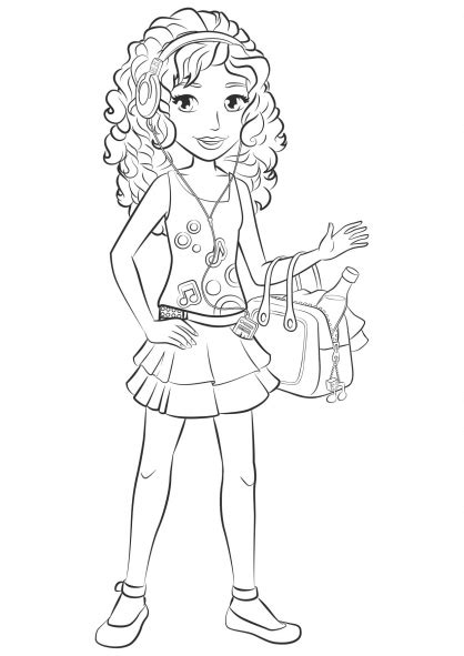 coloring pages lego friends free lego friends andreap coloring pages