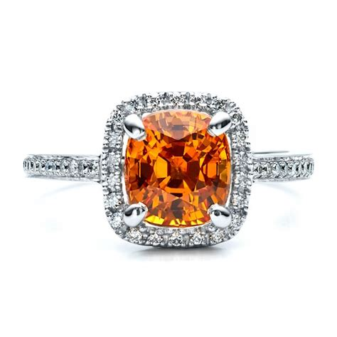 custom and orange sapphire engagement ring 1452