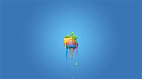 hd hintergrundbilder apple logo bunt blau symbol desktop