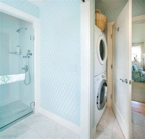 bathroom with washer and dryer bathroom washer and dryer transitional laundry room nantucket architecture group