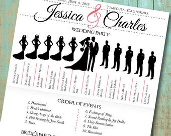 7 Best Images Of Program Printable Wedding Day Schedule Free Printable Wedding Day Schedule Wedding Silhouette Template